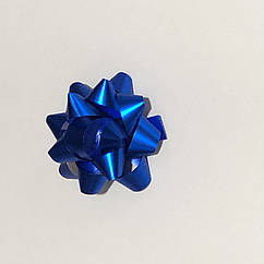 Бантик  5 см, диаметр синий