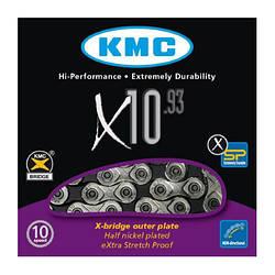 Цепь KMC X10.93 для 10 скоростных трансмиссий велосипеда