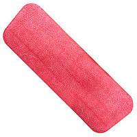 Запаска для швабры - полотера Stenson R84115 розовая, 40*14см, микрофибра, Товары для уборки, Швабра, Уборочны