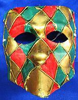 Маска карнавальная Венецианская папье-маше 16,5см (29035)