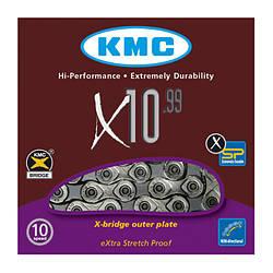 Цепь KMC X10.99 для 10 скоростных трансмиссий велосипеда