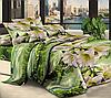 """Семейное постельное белье евро-размер с двумя пододеяльниками (8558) хлопок """"Ранфорс"""""""