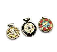 Тибетский медальон-амулет с мантрами (27533)