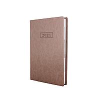 Щоденник датований Optima 2021, NEBRASKA, 352 сторінки, бежевий металік, А5, без поролона