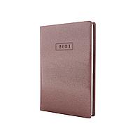 Щоденник датований 2021, MINK, 352 арк., бежевий металік, А5