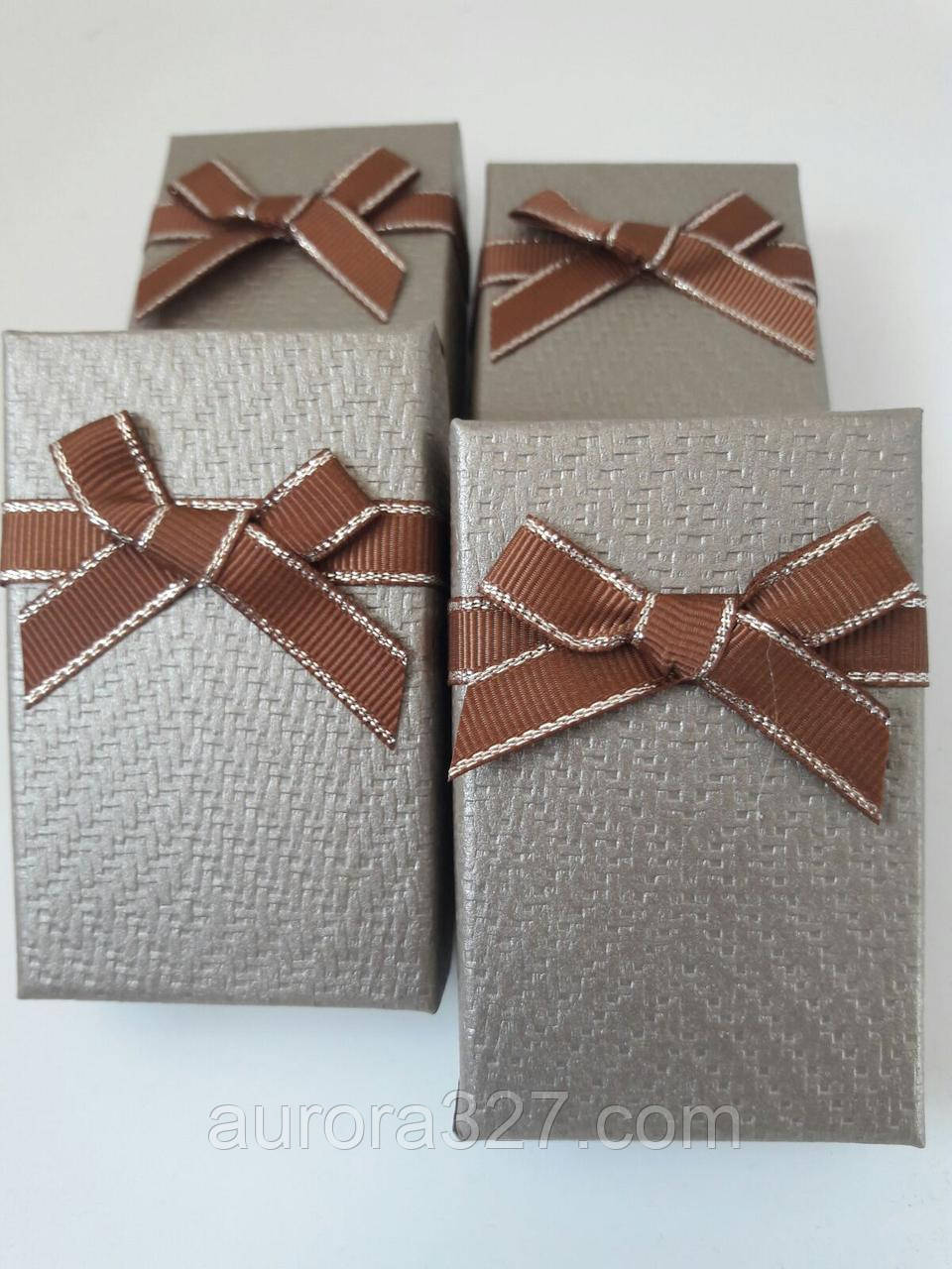 "Коробочка подарочная картонная ""Плетенка"" Коричневый 5х8х3см"