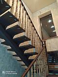 Лестница на металлическом косоуре, фото 3