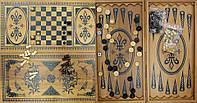 Нарды+шахматы из бамбука (60х30х4см)