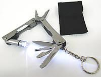 Нож-плоскогубцы с набором инструментов 7см 9в1 (19114)