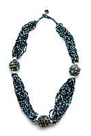 Ожерелье из биссера и металла 35см (28204)
