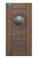 Двери входные металлические ПВ-192 V Дуб темний Vinorit (Патина з 2-х сторін)