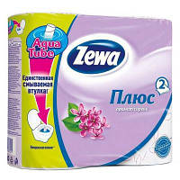 Туалетная бумага Zewa Plus 2-слойная Сирень 4 шт (7322540667271)