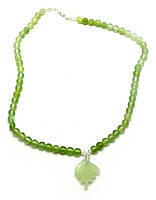 Ожерелье нефритовое с кулоном 23см (28133)