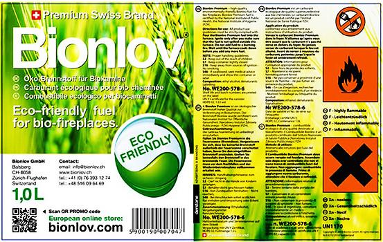 Биотопливо экотопливо или спирт для биокамина камина Bionlov