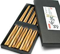 """Палочки для еды бамбуковые """"Витые"""" 5 пар 24х11х2см (26421)"""
