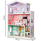 Большой игровой кукольный домик Ecotoys 4128 Candy с лифтом + кукла, фото 7