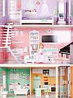 Большой игровой кукольный домик Ecotoys 4128 Candy с лифтом + кукла, фото 2