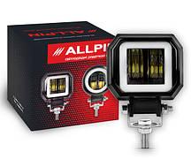 Дополнительная Led фара Allpin 20 Вт стг, дхо квадратные (8843ST20C)