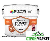 Грунтовка эмаль от ржавчины Dnipro Contact 3в1 вишнёвая 2,8 кг