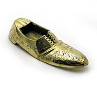 Пепельница туфля бронзовая 11х4,5х3см (1993)