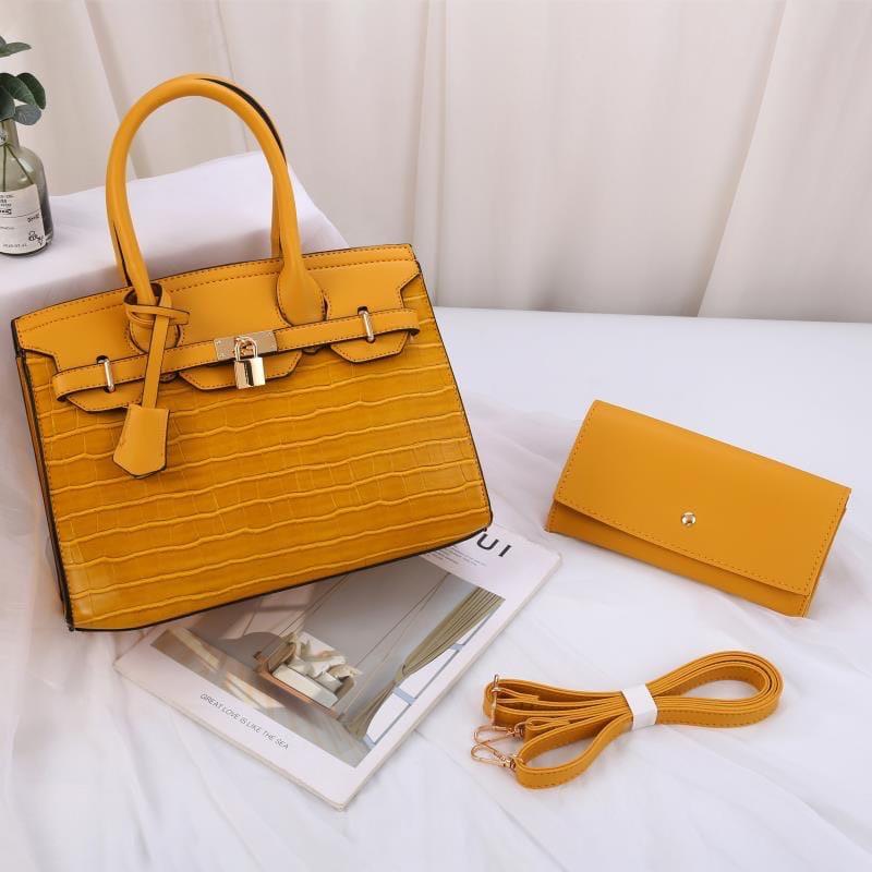 Женская сумка 2в1, экокожа PU (жёлтый)