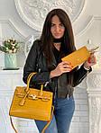 Женская сумка 2в1, экокожа PU (жёлтый), фото 5