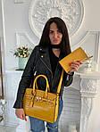 Женская сумка 2в1, экокожа PU (жёлтый), фото 4