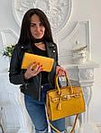 Женская сумка 2в1, экокожа PU (жёлтый), фото 2