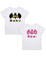 "Парні футболки Push IT з принтом ""Big brother. Litle sister"""