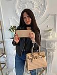 Женская сумка 2в1, экокожа PU (бежевый), фото 2