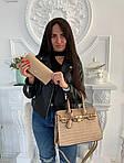 Женская сумка 2в1, экокожа PU (бежевый), фото 3
