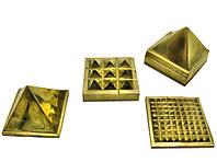 Пирамида энергетическая бронзовая 5 х 5см (18117)