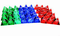 """Пирамиды хрустальные """"Гороскоп"""" набор 12шт 4см (18285)"""
