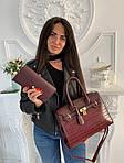 Женская сумка 2в1, экокожа PU (бордовый), фото 2