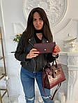 Женская сумка 2в1, экокожа PU (бордовый), фото 3