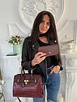Женская сумка 2в1, экокожа PU (бордовый), фото 4