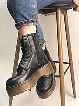 Женские ботинки Dr.Martens  JADON кожа, черные. ТОП Реплика ААА класса., фото 3