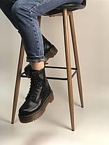 Женские ботинки Dr.Martens  JADON кожа, черные. ТОП Реплика ААА класса., фото 2