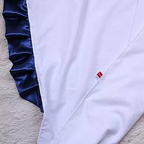 Крыжма для крещения 90х90 с синим уголком Велена, фото 3