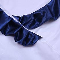 Крыжма для крещения 90х90 с синим уголком Велена, фото 2