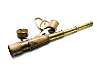 Подзорная труба в кожаном чехле48х5,5см (26568)
