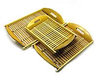 Подносы бамбуковые набор 3шт 40х25х5см 35х22х5см 32х19х5см (28026)