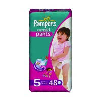 Трусики Pampers Active Girl Pants 5 ( 12-18 ) 48 шт!