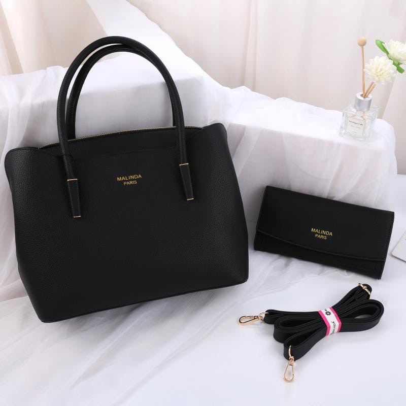Женская сумка 2в1, экокожа PU (чёрный)