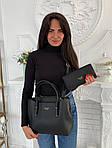 Женская сумка 2в1, экокожа PU (чёрный), фото 2
