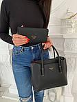 Женская сумка 2в1, экокожа PU (чёрный), фото 5