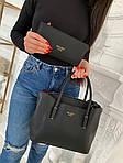 Женская сумка 2в1, экокожа PU (чёрный), фото 3