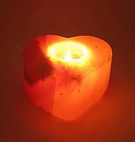 """Подсвечник соляной """"Сердце""""11,5х11х6см (25672)"""