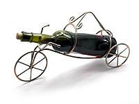 """Подставка для бутылки """"Велосипед"""" металл 39х21х11см (25362)"""