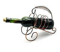 """Подставка для бутылки """"Спираль"""" металл 22,5х23,5х9,5см (25742)"""